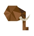 elephant silhouette low poly icon vector image