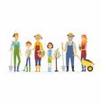 voluntary saturday work - cartoon people vector image