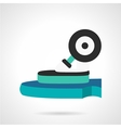 Longboard wheel flat icon vector image
