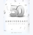 50 years silver number anniversary celebration vector image vector image