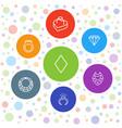 7 diamond icons vector image vector image
