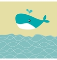 Baby boy shower card with cute whale vector image vector image
