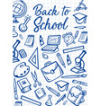 back to school education supplies on notebook vector image vector image