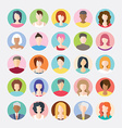Big set of avatars profile pictures flat icons vector image
