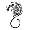 black dragon 0002 vector image