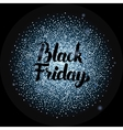 Black Friday Lettering over Silver vector image vector image