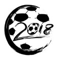 black world cup 2018 soccer circle logo vector image