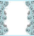 blue rose background wedding frame vector image