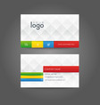 business card identity corporate vector image vector image