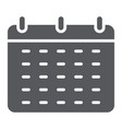 calendar glyph icon reminder and date schedule vector image vector image