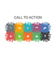 call to action cartoon template with flat elements
