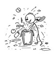 cartoon of ill-mannered child or boy messing up vector image