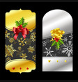christmas gold and silver price tags vector image vector image