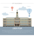 City buildings graphic template Town hall Rigas vector image vector image