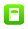 closed spiral notebook icon digital green vector image