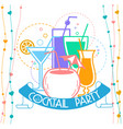 cocktail party banner vector image vector image