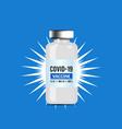 coronavirus vaccine on blue vector image