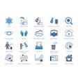 coronavirus virus prevention flat icons vector image vector image