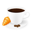 cup of coffee 04 vector image vector image
