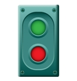 device with two buttons vector image vector image