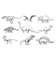 dinoussaur predators set vector image