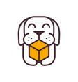 dog delivery logo vector image