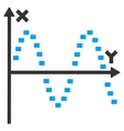 Dotted Sine Plot Icon vector image vector image