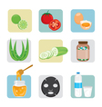 Face Treatment Icons Set vector image vector image