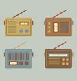 Flat Design Vintage Radio vector image vector image