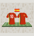 football spain sport wear tshirt vector image vector image