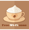 free wifi zone vector image vector image