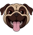Funny kind pug vector image vector image