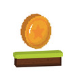 game coin icon vector image vector image