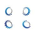 gear logo template icon design vector image vector image