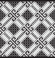 geometric abstract black and white greek vector image vector image