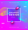 glowing particles liquid dynamic gradient vector image vector image