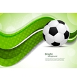 green background with soccer ball vector image vector image