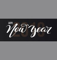 happy new year 2019 hand-lettering text vector image