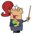 Hispanic Cartoon Teacher Woman vector image vector image
