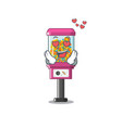 in love candy vending machine with character vector image vector image