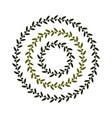 isolated round green olive branch logo vector image vector image