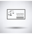 Lawyer business card vector image vector image