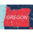 oregon state detailed editable map vector image vector image