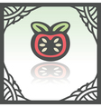 outline tomato icon Modern infographic logo and vector image vector image