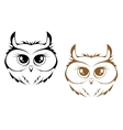 Owl heads vector image vector image