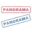 panorama textile stamps vector image vector image