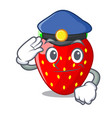 police character strawberry sweet in store fruit vector image