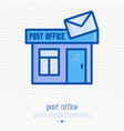 post office building with envelope vector image