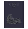poster rome colosseum dark vector image