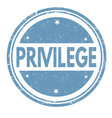privilege sign or stamp vector image vector image